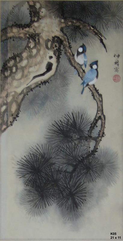 松樹白臉山雀